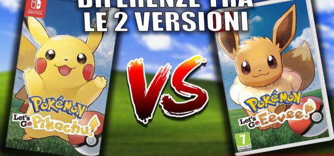 Guida: Tutte le differenze tra Pokémon: Let's Go, Pikachu e Let's Go Eevee!