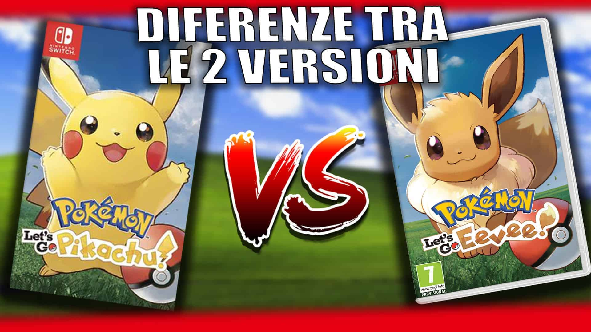 Differenze Pokémon Let's GO