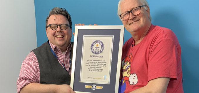 Charles Martinet, il doppiatore di Mario, entra nel libro dei record!