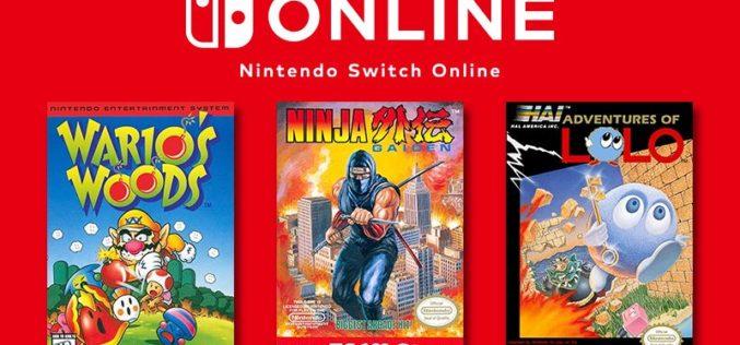 Ninja Gaiden, Wario's Woods e ADVENTURES OF LOLO sono i giochi NES in arrivo a dicembre!